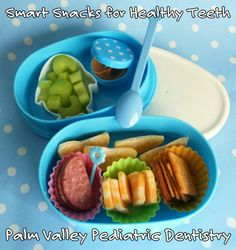 """Smart Snacks for Healthy Teeth Getting your kids to eat fruit, veggies and yogurt instead of candy, chips and ice cream might feel like pulling teeth. But it's important to encourage them to eat """"smart"""" snacks to keep their teeth – and body – healthy."""