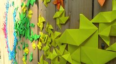 Rainbow Origami Streetart by Mademoiselle Maurice