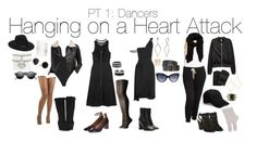 """Hanging on a Heart attack PT 1: Dancers"" by emmasart ❤ liked on Polyvore featuring Fashion Forms, Free People, Johnston & Murphy, Lack of Color, Alexander Wang, Topshop, BaubleBar, L'eggs, SOKO and Ginette NY"