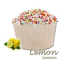 ✭ Bombe de bain muffin citron - 190gr d''effervescence pour 2 bains ✭
