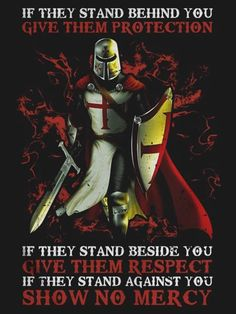 The Knights Templar Warrior Protection T shirt Please visit our website, we have a lot of funny and interesting photos. Warrior Quotes, Prayer Warrior, True Quotes, Bible Quotes, Qoutes, Viking Quotes, Crusader Knight, Christian Warrior, Military Quotes
