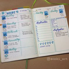 bullet journal weekly spread woche 47