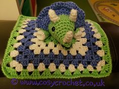 Craft Passions: Dinosaur Comforter..# free # Crochet  pattern link...