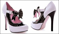rockabilly style high heel | ... Shoes & Vintage Style Shoe Source: Retro Shoes: High Heel Saddle Shoes