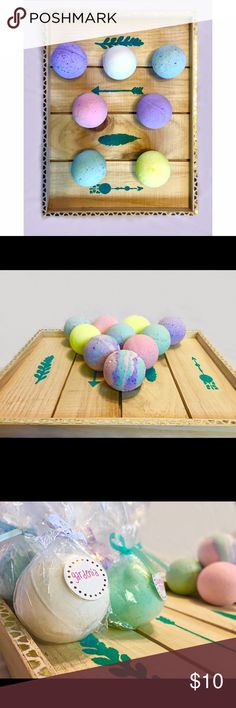 Bath bombs Scents include; strawberry, coconut, Cucumber melon, Honeysuckle, Gardenia, lilac, and lavender! Lush Other
