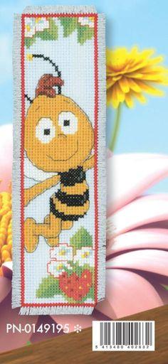 Cross stitch bookmark honey bee A Cross Stitch For Kids, Cross Stitch Books, Cross Stitch Bookmarks, Cross Stitch Baby, Counted Cross Stitch Patterns, Cross Stitch Charts, Cross Stitch Designs, Cross Stitch Embroidery, Palestinian Embroidery