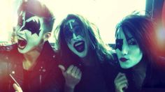 ❤️ Andy Beirsack, CC, and Ashley Purdy from Black Veil Brides dressed as KISS