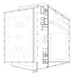 Image 37 of 45 from gallery of Sports Facility & Batlle i Roig Arquitectes. Ishikawa, School Architecture, Architecture Design, Architecture Concept Diagram, Sports Complex, Master Plan, School Design, Building Design, Planer