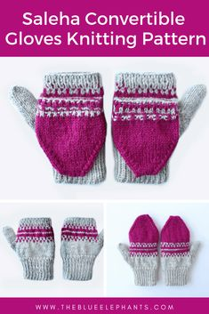 Saleha Gloves Pattern: How to Knit Fingerless Gloves - Knitting Patternss Beanie Pattern, Mittens Pattern, Crochet Pattern, Knit Crochet, Crochet Granny, Barbie Knitting Patterns, Sewing Patterns, Knitting Tutorials, Knitting Ideas