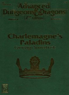 HR2 Charlemagne's Paladins Campaign Sourcebook (2e)   Book cover and interior art for Advanced Dungeons and Dragons 2.0 - Advanced Dungeons & Dragons, D&D, DND, AD&D, ADND, 2nd Edition, 2nd Ed., 2.0, 2E, OSRIC, OSR, d20, fantasy, Roleplaying Game, Role Playing Game, RPG, Wizards of the Coast, WotC, TSR Inc.   Create your own roleplaying game books w/ RPG Bard: www.rpgbard.com   Not Trusty Sword art: click artwork for source