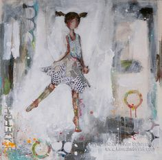 Adorable. This would be great in a little girl's room. Painting by Kim Schuessler