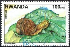Sello: Snail (Ruanda) (Animals) Mi:RW 1462,Yt:RW 1325