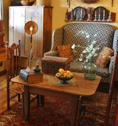 If that style upholstery is what you seek, look no further... www.millspaugh.com  #prim #homedecor