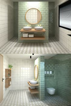7 Lush Green Bathroom Ideas That Inspire Relaxation Bathroom Plans, Bathroom Spa, Bathroom Toilets, Bathroom Renovations, Modern Bathroom, Home Remodeling, Bathroom Design Luxury, Bathroom Design Small, Bathroom Layout