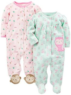 BROWN FLORAL DESIGN-AGE 3 MOS CARTERS  WRIGGLE IN BABY GROW-PINK NEW