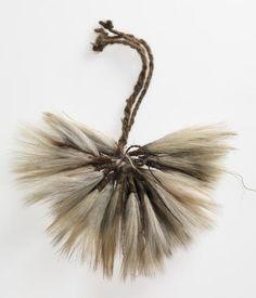 Necklace 1902. Fur string, bandicoot tail tips. Aboriginal art. Australia.