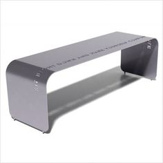 phrase cut-out metal bench