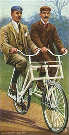 Old fashioned tandem GiveLoveCycle - Our Blog | GiveLoveCycle