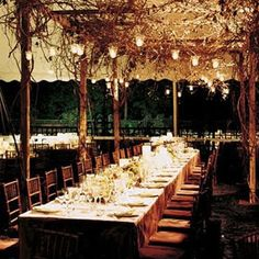 outdoor lighting - hanging candle light - summer party - dinner party - outdoor lighting