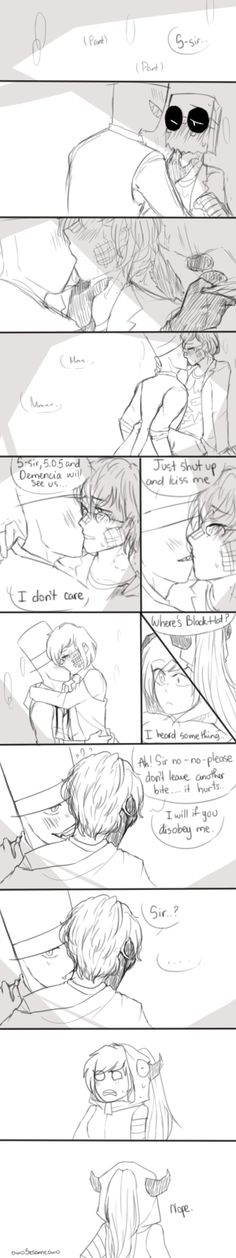 [PaperHat Request 6]: Making out by owoSesameowo | I don't like PaperHat to much, but the reaction of Demencia is hilarious. OC