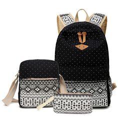 $26.90 (Buy here: https://alitems.com/g/1e8d114494ebda23ff8b16525dc3e8/?i=5&ulp=https%3A%2F%2Fwww.aliexpress.com%2Fitem%2FWomen-Backpack-Canvas-Korean-School-Backpack-Dot-Floral-Travel-Backpack-Women-Bag-Set%2F32704926824.html ) Women Backpack Canvas School Backpack Female Dot Floral Travel Laptop Backpack Women Bag Set sac a dos Feminine Korean Schoolbag for just $26.90