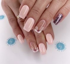- Acrylic short square nails design for summer nails, Short square nails color ideas, Natural gel short square nails design, Pretty and cute acrylic nails design Elegant Nails, Classy Nails, Fancy Nails, Stylish Nails, Trendy Nails, Pink Nails, Nail Manicure, Toe Nails, Coffin Nails