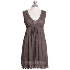 Laced with love dress in truffle gray from Ruche $36.99