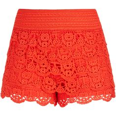 City Chic Layered Lace Shorts ($20) ❤ liked on Polyvore featuring shorts, summer shorts, floral printed shorts, flower print shorts, short shorts and layered lace shorts