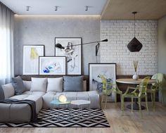 Интерьер маленькой двухкомнатной квартиры в Одессе