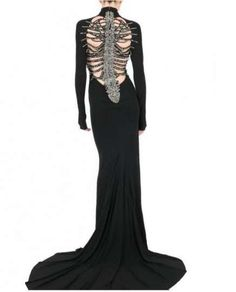 Spiderweb Gowns - The DSquared Back Skeleton Dress Puts a Glamorous Spin on a Scary Look (GALLERY)