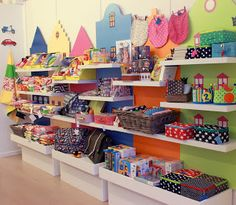 Shop display; also shelving for kids playroom?