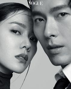 Son Ye Jin and Hyun Bin Vogue photoshoot Korean Couple Photoshoot, Vogue Photoshoot, Couple Shoot, Couple Posing, Asian Actors, Korean Actresses, Korean Actors, Actors & Actresses, Hyun Bin