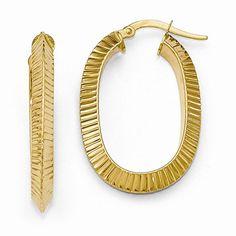 Single Oval Hoop Earrings https://www.goldinart.com/shop/earring/14k-earrings/single-oval-hoop-earrings #14KaratYellowGold, #OvalHoopEarrings