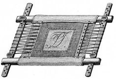 ENCYCLOPEDIA OF NEEDLEWORK By Thérèse de Dillmont - published 1884 - embroidering on something too small for a hoop - mount larger fabric, then cut a hole to fit the small item and baste in place Medieval Embroidery, Tambour Embroidery, Embroidery Tools, Blackwork Embroidery, Embroidery Alphabet, Embroidery Bags, White Embroidery, Cross Stitch Embroidery, Embroidery Patterns