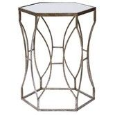 Redefine your modern home with the lavish geometric style-lines of the art deco Massima Side Table from Amalfi. Glass Side Tables, Metal Side Table, Round Side Table, Amalfi, How To Clean Mirrors, Round Beds, Interiors Online, Metal Mirror, Homewares Online