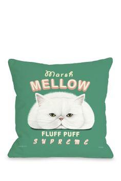 Marsh Mellow Zippered Pillow