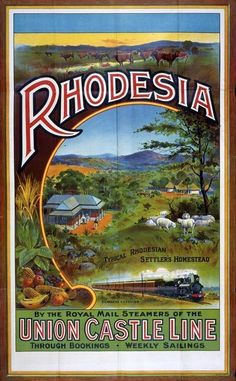 inch Photo Puzzle with 252 pieces. (other products available) - Union Castle Line to Rhodesia poster, 1908 Date: 1908 - Image supplied by Mary Evans Prints Online - Jigsaw Puzzle made in the USA Railway Posters, Framed Prints, Canvas Prints, All Nature, Vintage Travel Posters, Africa Travel, Wonderful Images, Poster Size Prints, Photo Puzzle