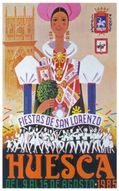 Cartel Fiestas de San Lorenzo 1985