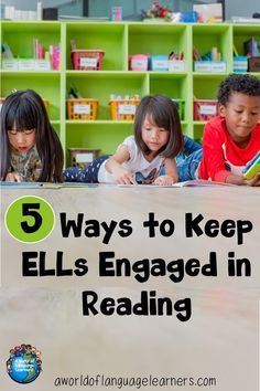 Do you need ideas to help your ELLs stay engaged in reading? Here are 5 ways to keep ELLs engaged in reading. Reading engagement is. Vocabulary Activities, Reading Activities, Teaching Reading, Teaching Ideas, Spanish Activities, Preschool Worksheets, Student Teaching, English Language Learning, Teaching English