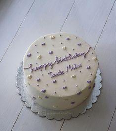 Cute Birthday Cakes, Birthday Cake Toppers, Pretty Cakes, Cute Cakes, Korean Cake, Korean Birthday, Buttercream Cake, Cake Designs, Oreo
