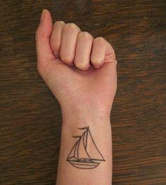 sail boat tattoo