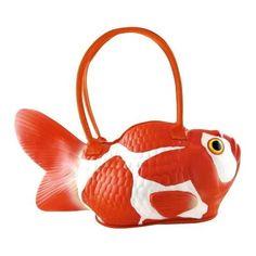 Rubber Koi Fish Handbag, onejustlikeit.com #Fish #Koi #Handbag #onejustlikeit