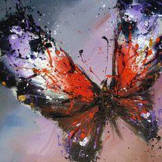 Oil painting butterfly, Pavel Guzenko