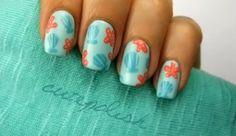 Summer, beach manicure