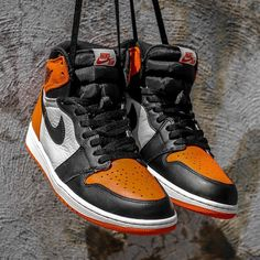 "Michael Jordan was as much about force as he was about flight. Get a detailed look at the Air Jordan 1 ""Shattered Backboard"" on SneakerNews.com"