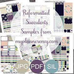 Reformatted Succulents Sampler - Free Planner Printable