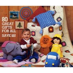 80 Christmas Knit Crochet Patterns Potholders Toys Afghans Ornaments Baby