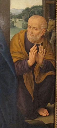 Lorenzo di Credi - Adorazione del bambino e angeli, dettaglio - 1523 - Galleria Farnese, Museo di Capodimonte, Napoli
