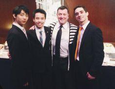 Yuzuru Hanyu, Nam Nguyen, Brian Orser, Javier Fernandez
