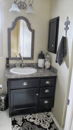 Fleurdelishy Design and Decor: Bathroom Remodels using Maison Blanch Vintage Furniture Pain in Wrought Iron
